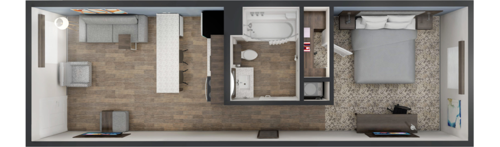 King Suite Room Layout